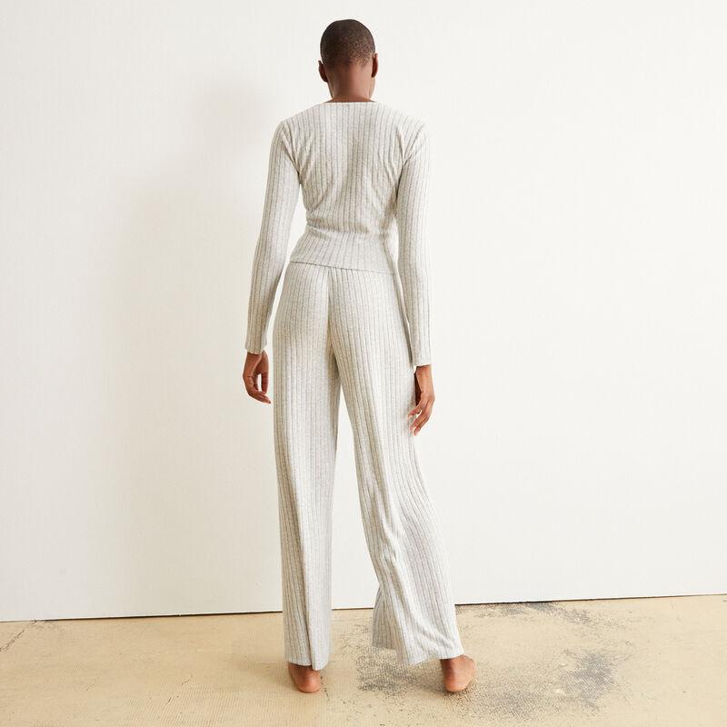 pantalon ample et cordon à nouer - gris;
