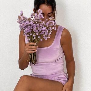 brassière en velours - lilas