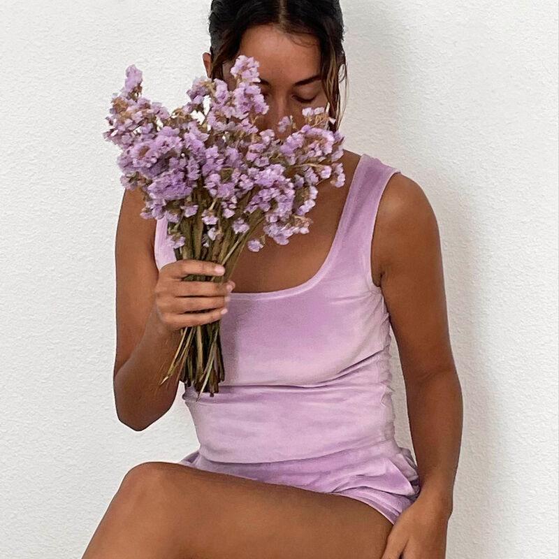 brassière en velours - lilas;