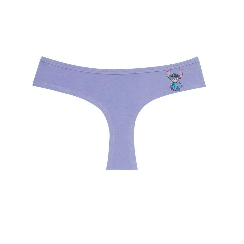shorty en coton Stitch - violet;