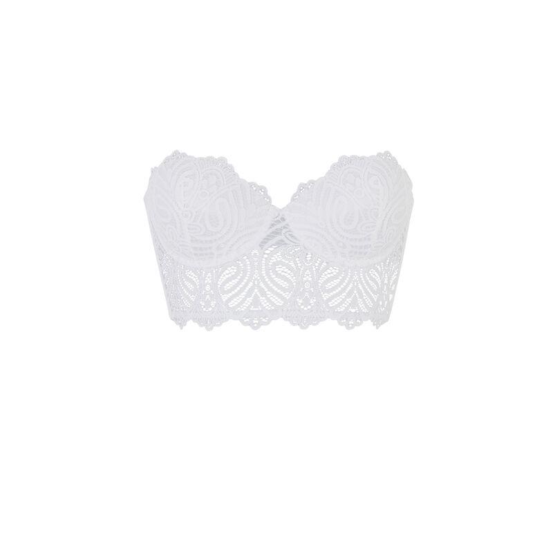 Soutien-gorge bustier push-up - blanc;