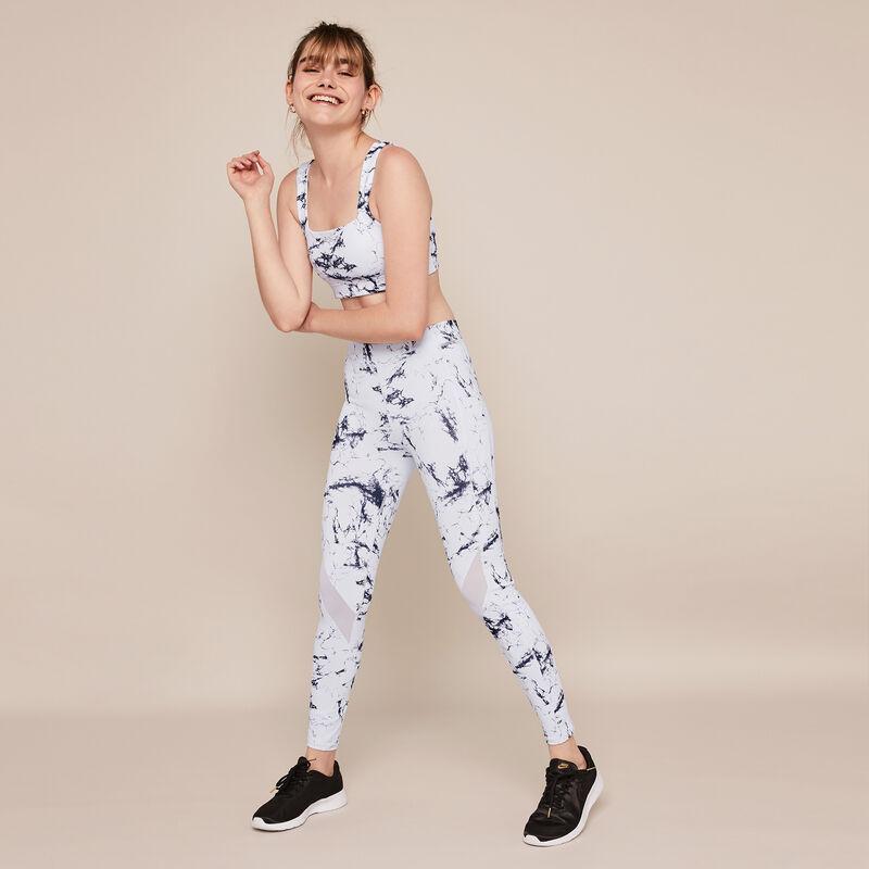 Legging sport imprimé marbre yogamarbliz;