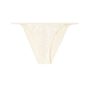 culotte uni en micro - blanc cassé