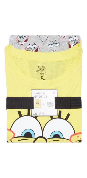 Set pyjama jaune et gris spongebibiz yellow.
