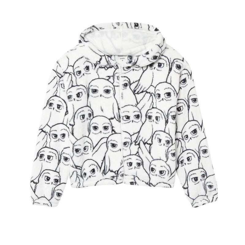 veste en polaire à motifs hedwige - blanc;