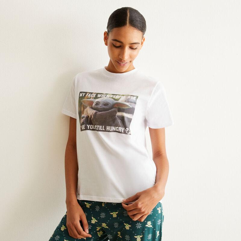 set de pyjama à manches courtes baby Yoda - blanc;