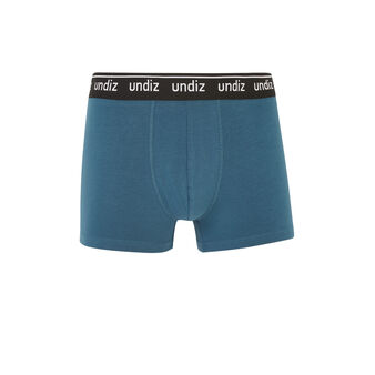 Boxer coton bleu morteliz blue.