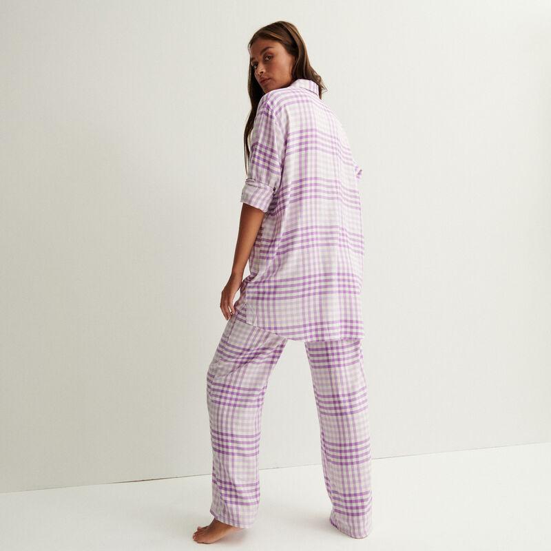 chemise oversize à carreaux - violet;