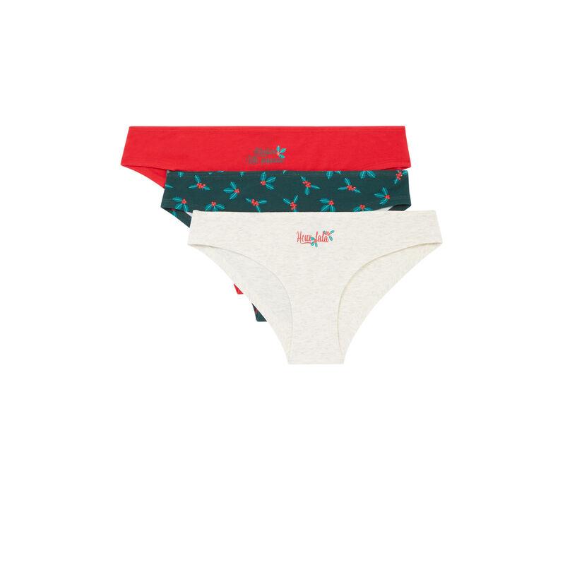 lot de culottes à message de Noël - rouge;