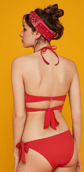 Haut de maillot de bain rouge fusioniz rouge.