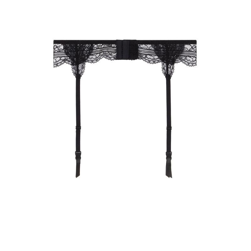 porte-jarretelles en dentelle - noir;