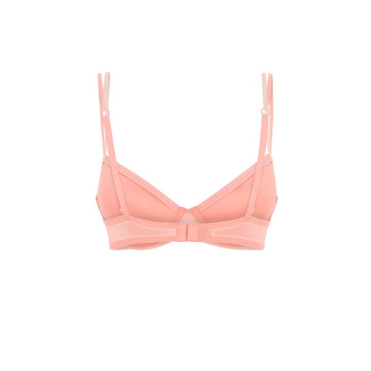 Soutien-gorge ampli rose embroderiz pink.