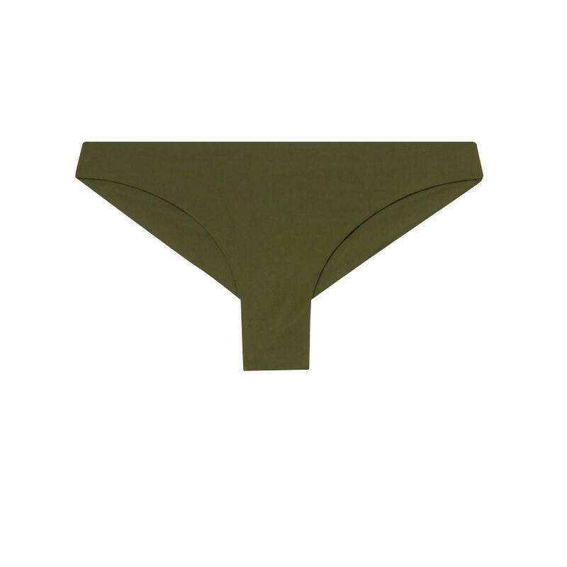 bas de maillot de bain tanga uni - kaki;