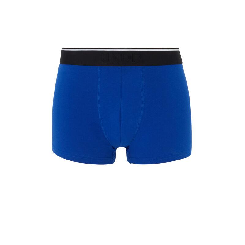 Boxer en coton à message - bleu ;