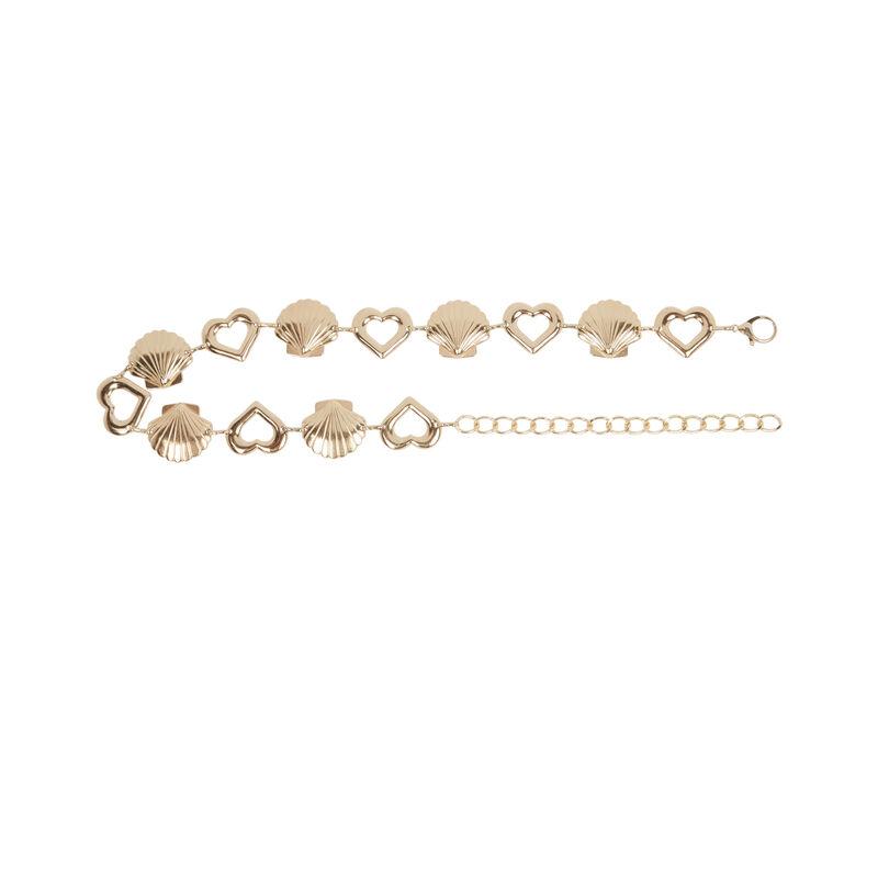 ceinture coquillages et chaîne - doré;