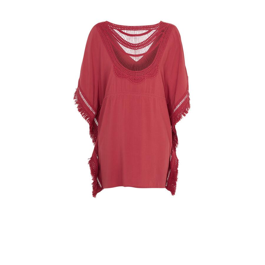 Moniz antique pink beach tunic;${refinementColor}