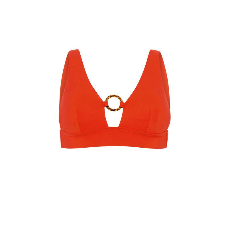 Haut de maillot de bain triangle - orange;