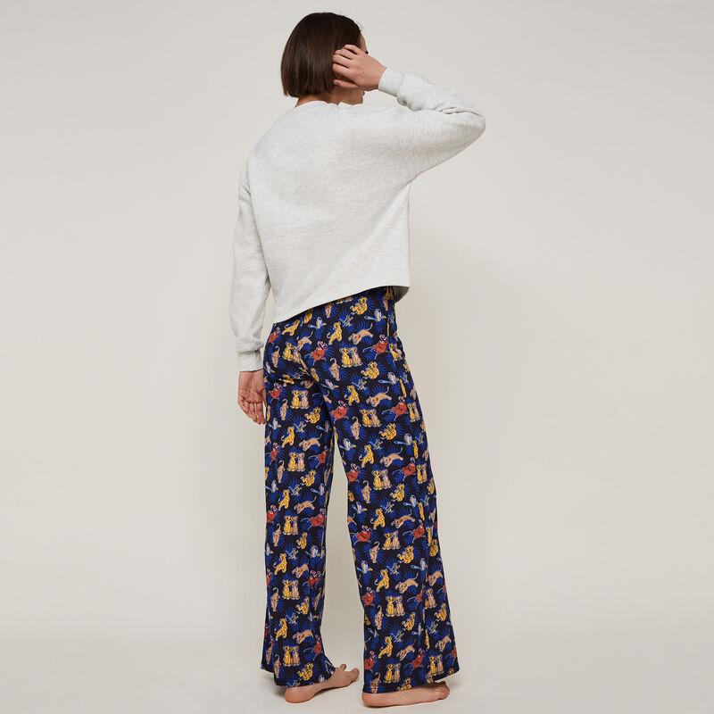 pantalon large à imprimé simbaliz;