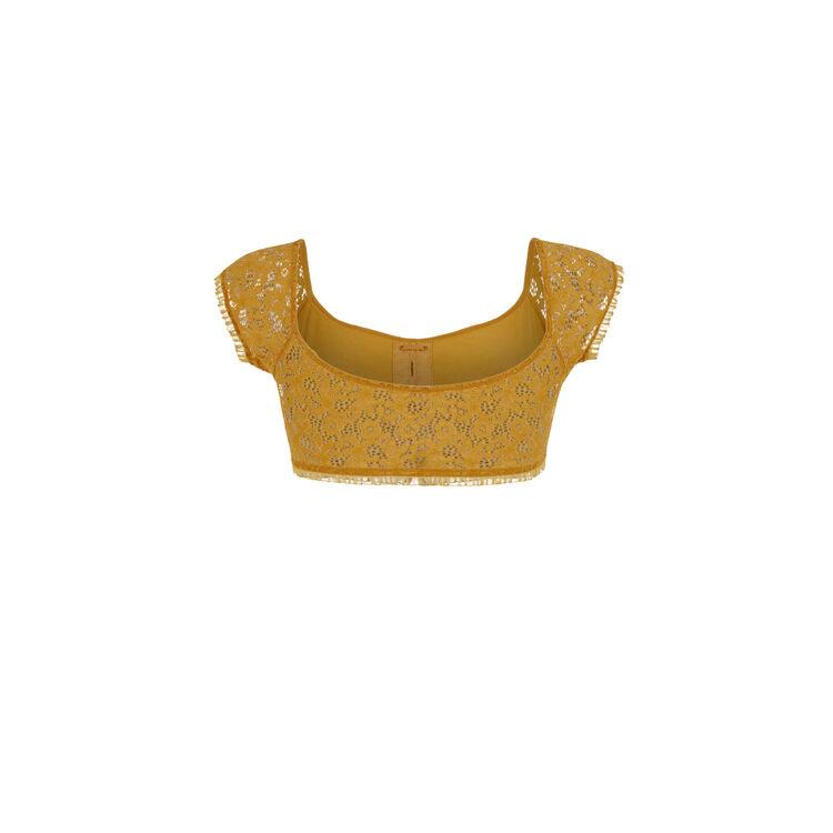 Soutien-gorge bandeau couleur ocre dorothiz yellow.