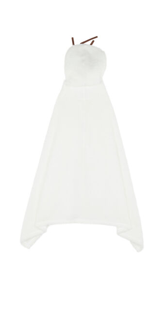 Poncho blanc olafiz white.