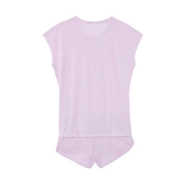 set de pyjama uni - lilas;