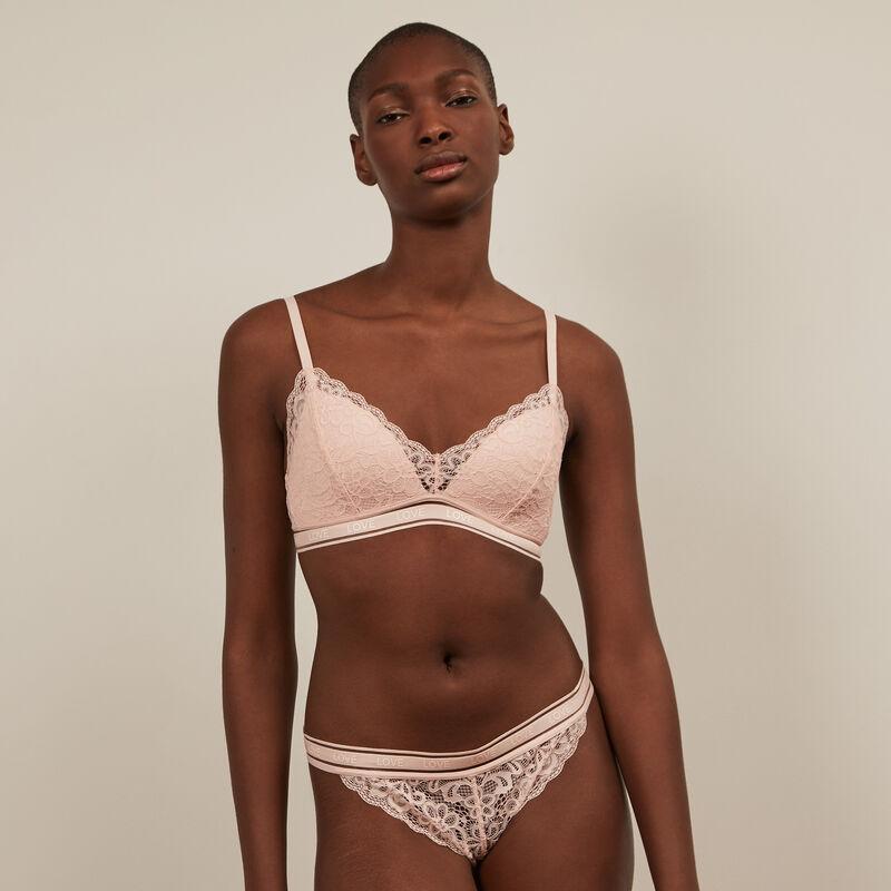 Culotte en dentelle - rose pâle;