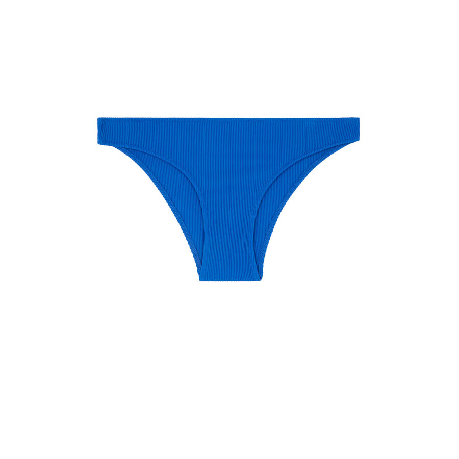Slip maillot de bain bleu gaufriz;