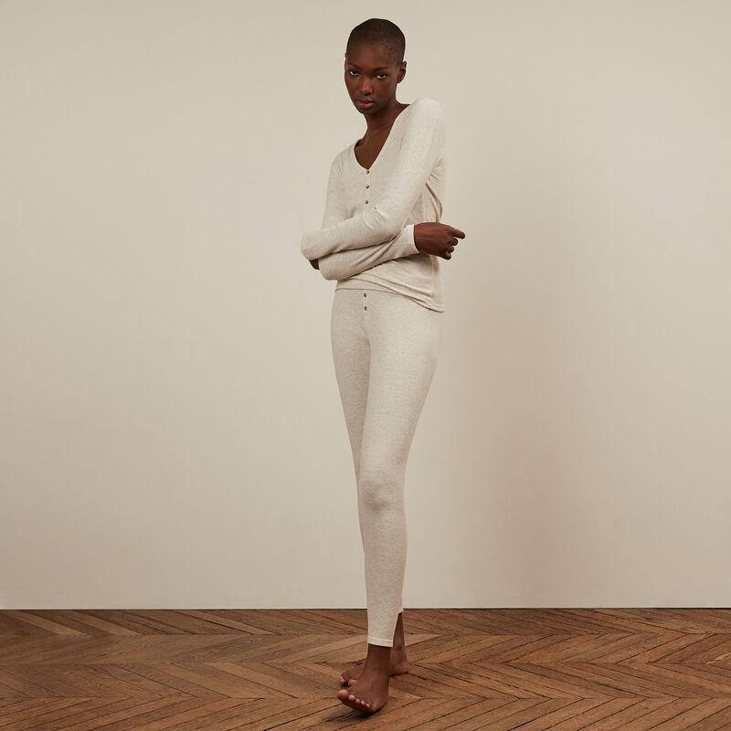Legging uni - gris;