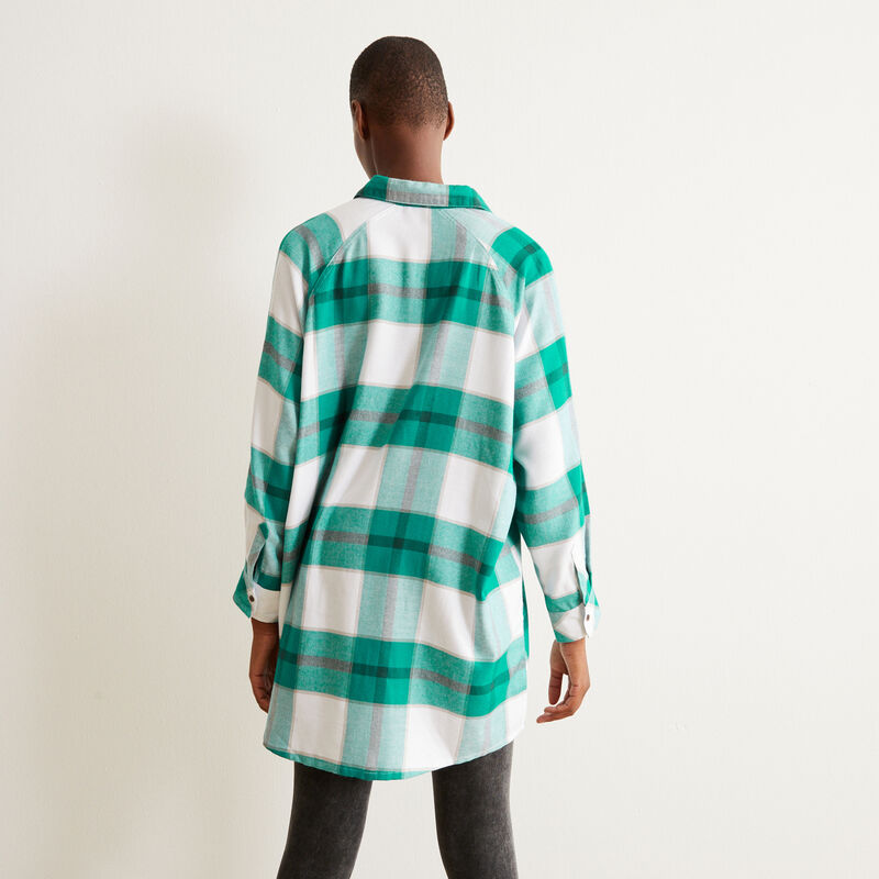 tunique à carreaux - vert;