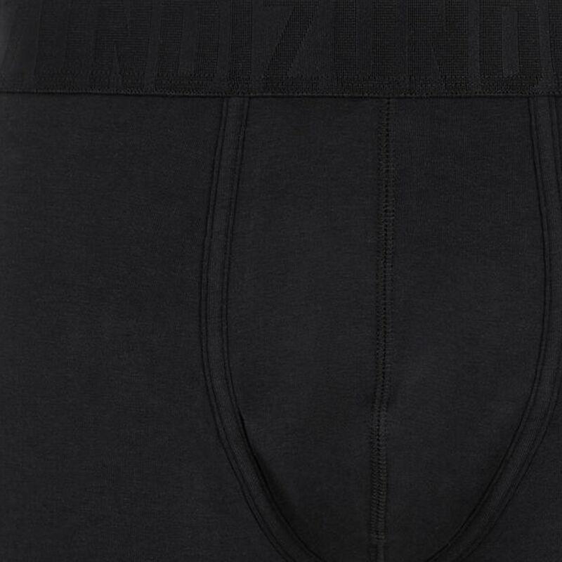 boxer uni en coton bio - noir;