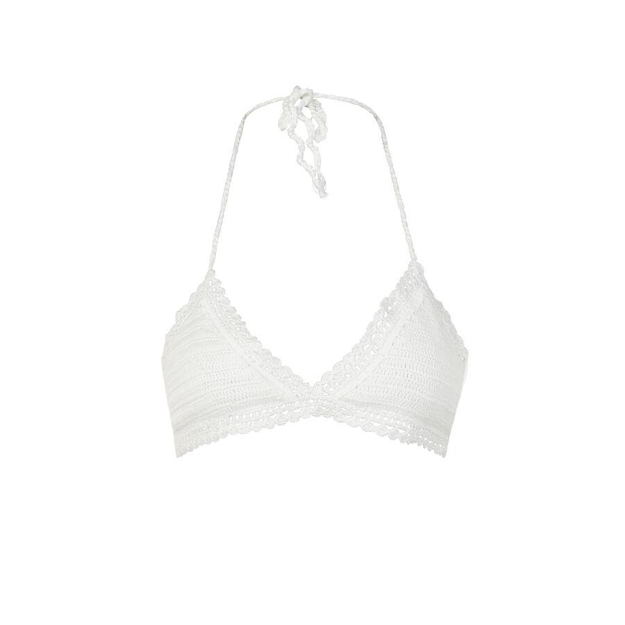 Haut de maillot de bain triangle blanc cassé romaniz;