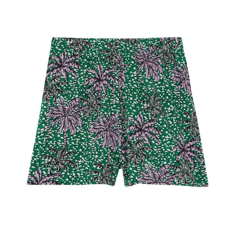short à motifs palmier - vert;