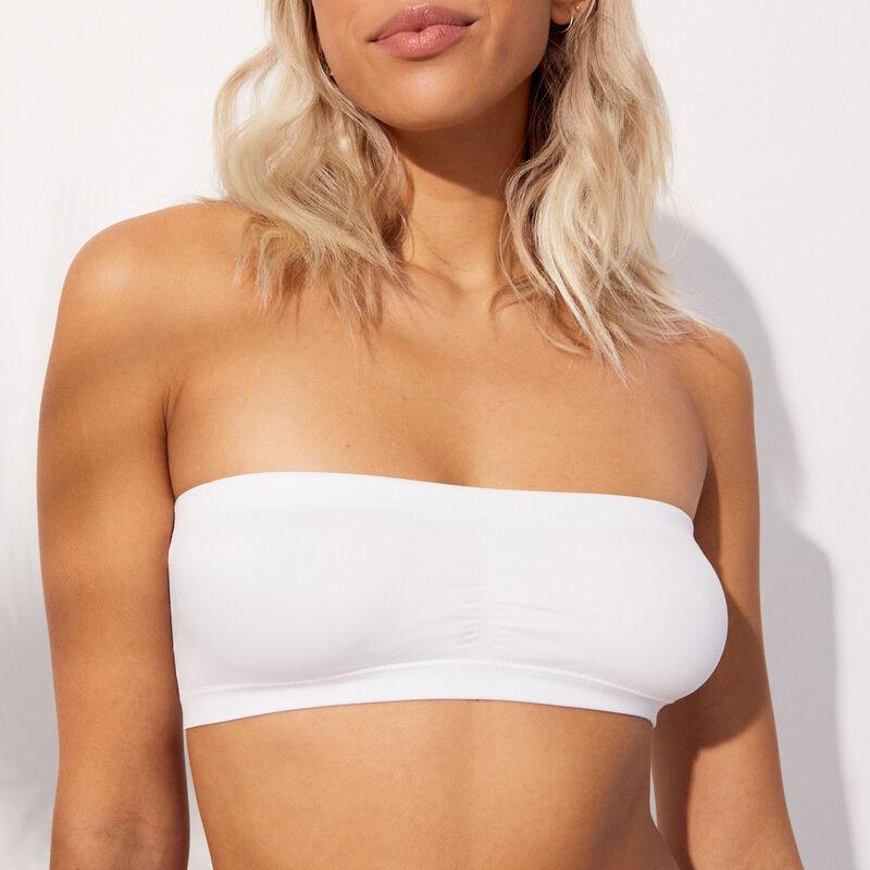 Soutien-gorge bandeau sans coutures - blanc;
