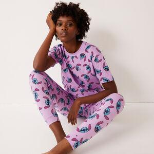 pantalon imprimé Stitch - violet