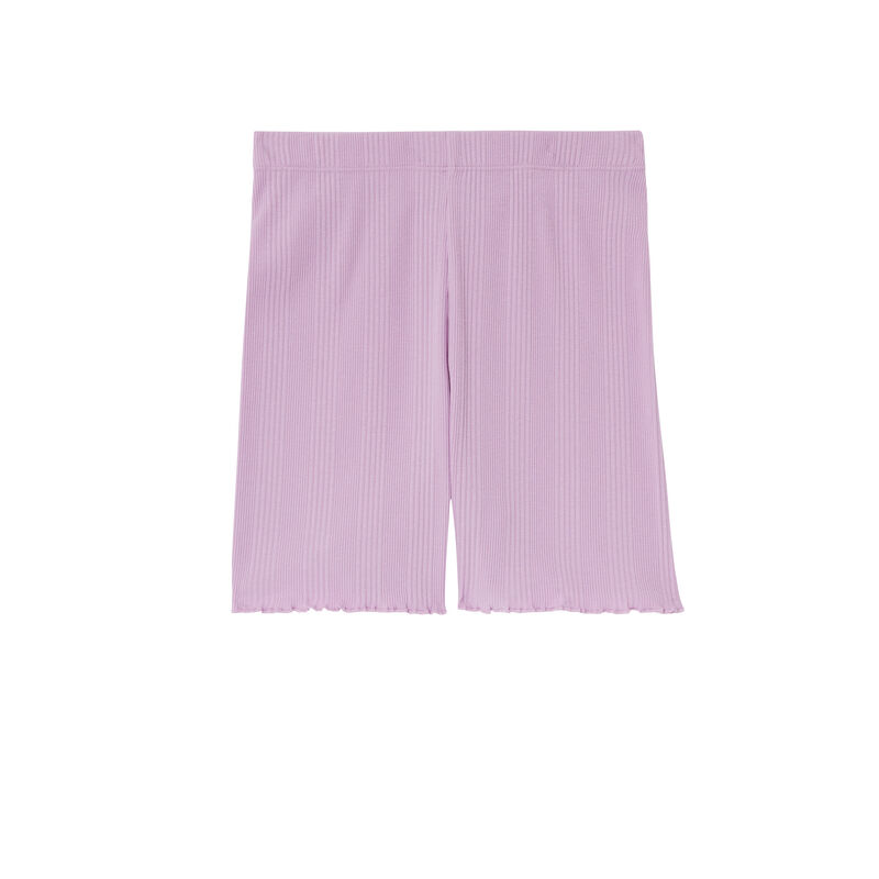 short côtelé en jersey - lilas;