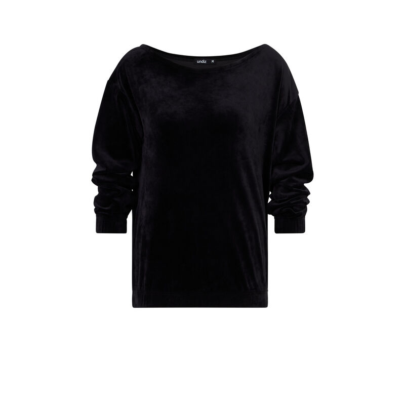 Sweat en velours - noir;