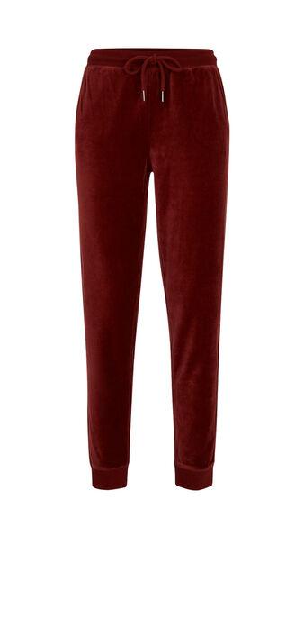 Pantalon bordeaux largecrochiz red.