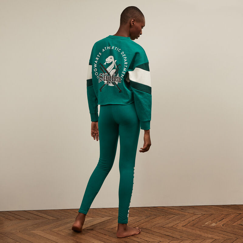 legging print Serpentard - vert;