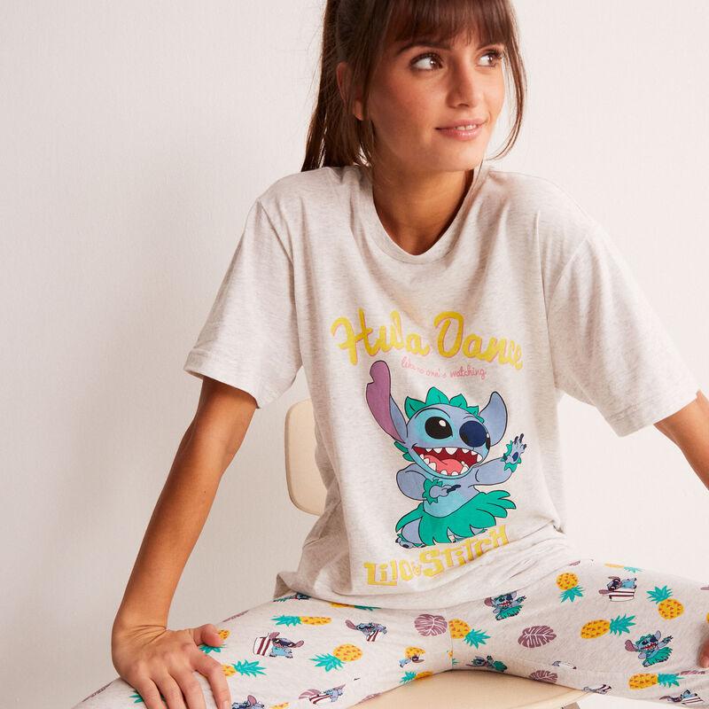 top à imprimé Stitch Hula Dance - écru;