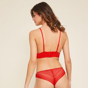 Slip rouge marine valliz rouge.