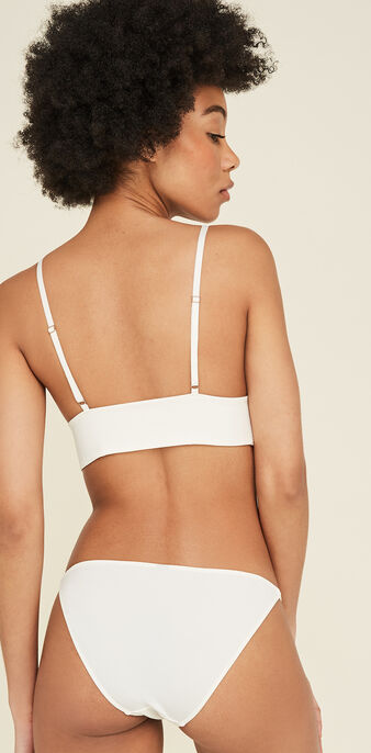 Soutien-gorge triangle blanc tropifruitiz white.