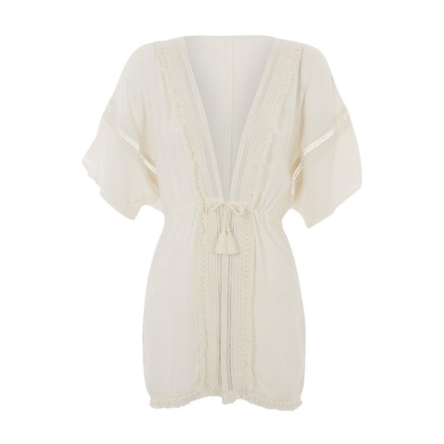 Kimono beige lineiz;