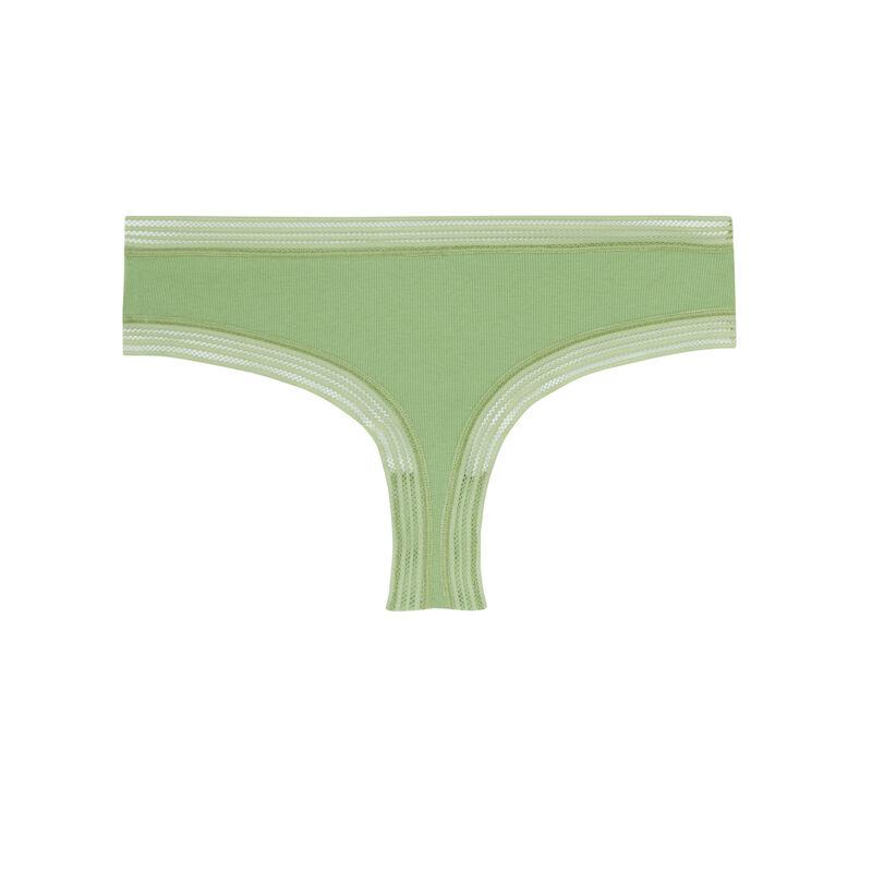 shorty bords dentelle - vert;