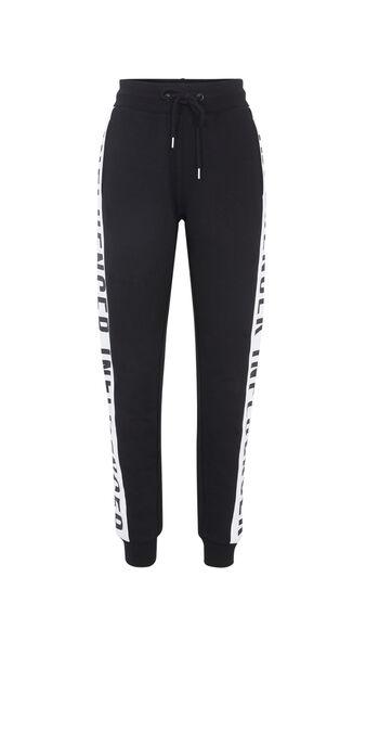 Pantalon bandes sur le côté hellovibiz noir.