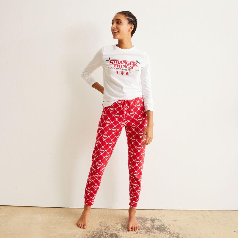 set de pyjama à manches longues Stranger Things - blanc;