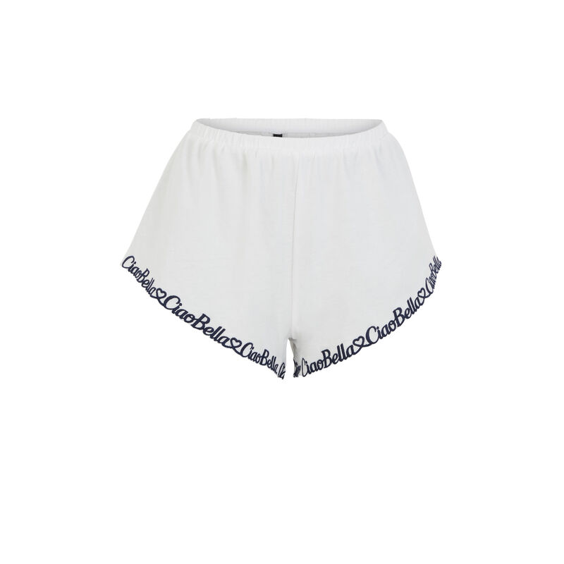 Short broderie Ciao Bella - blanc;
