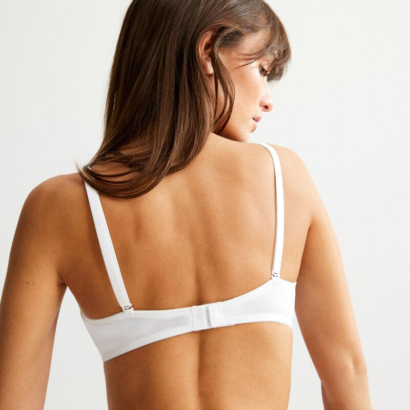 soutien-gorge ampli en micro sans armatures - blanc;