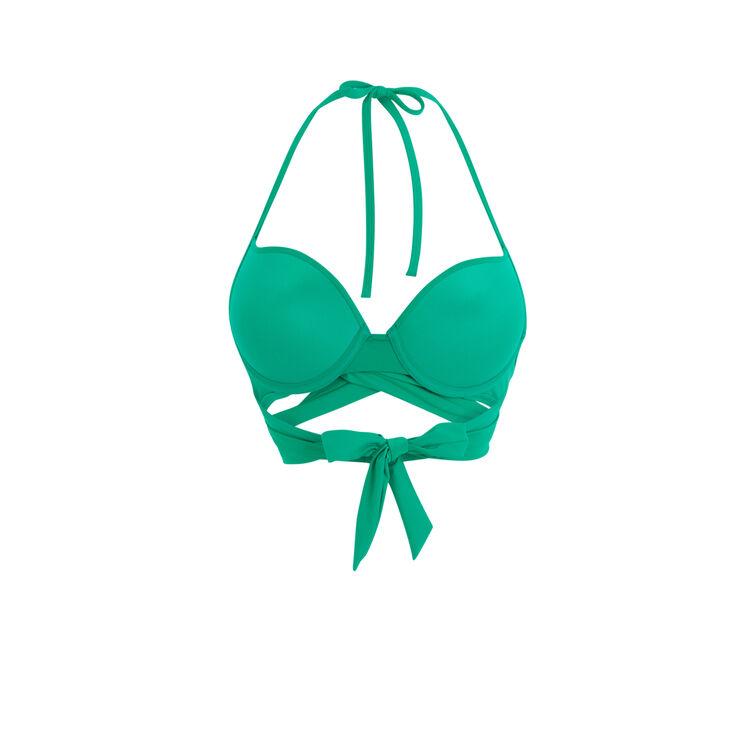 Haut de maillot de bain vert émeraude fusioniz vert.