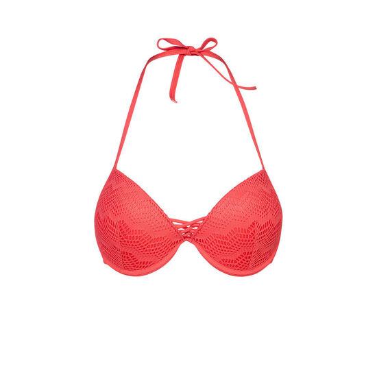 Haut de maillot de bain rouge bigoudiz;
