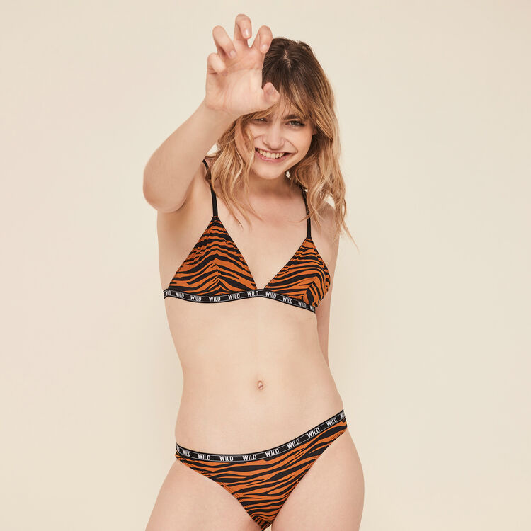 Soutien-gorge triangle sans armatures print tigre frostimiz;